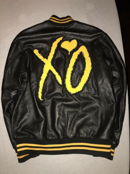 The Weeknd XO Roots King Of The Fall Leather Yellow Varsity Jacket *UNRELEASED*