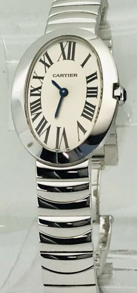 Cartier Baignoire Small Ref 3065 Watch - 18k White Gold - BoxPapers