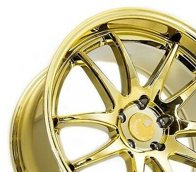 18x9.5 Aodhan Ds2 Rims 5X100 +35 Gold Vacuum Wheels (Set of 4)
