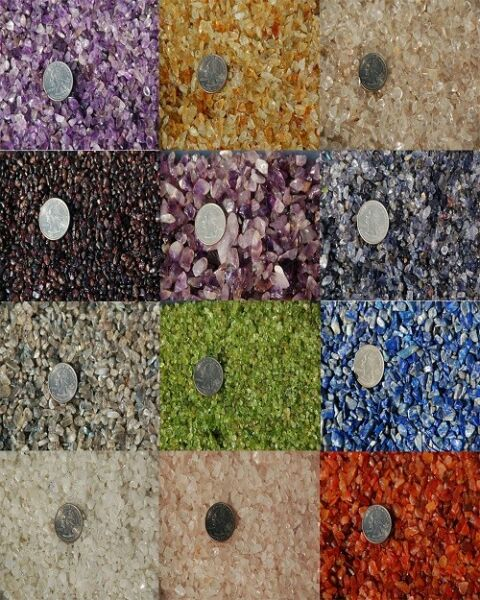 Small Tumbled Undrilled Natural Gemstone Chips --12 Varieties Available