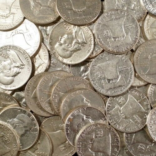 Franklin Half Dollars  90% Silver Coin Lot Circulated Choose How Many!