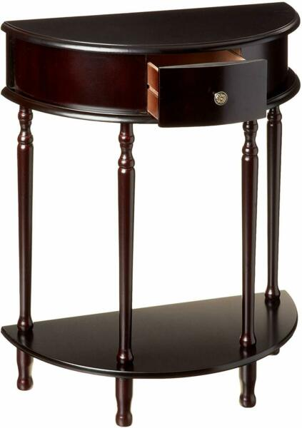 Half Moon Side Table Hall Foyer Office Entry Accent Stand Storage Furniture Key $79.99