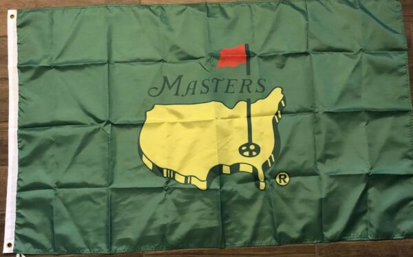 The Masters Green Flag 3x5 Golf Banner Augusta