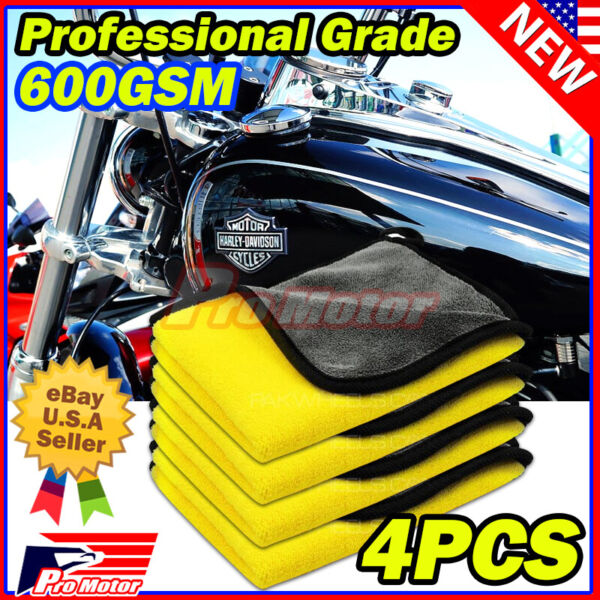 Bulk Pack Microfiber Cleaning Cloth No-Scratch Rag Car Polishing Detailing Towel