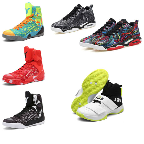 Men's Basketball Shoes Outdoor Sneakers High Top Shock Absorbing Comfy Athletic