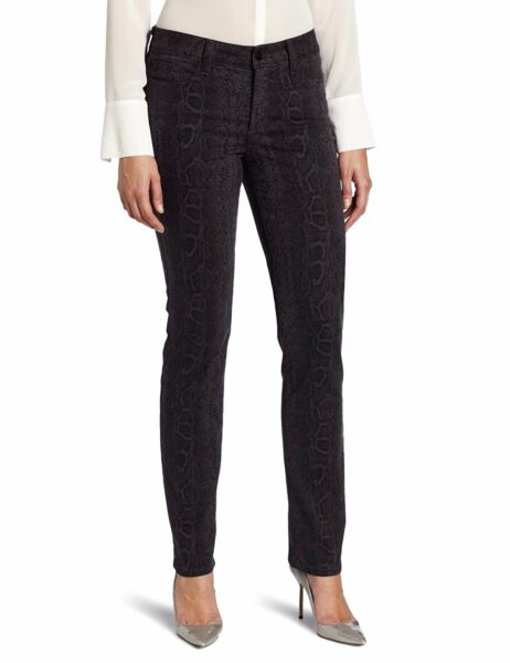 NWT NYDJ Not Your Daughters Jeans DARK ASH Sheri SKINNY Python Design Size 8P
