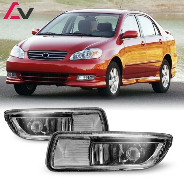 For Toyota Corolla 03-04 Clear Lens Pair Bumper Fog Light Lamp OE Replacement