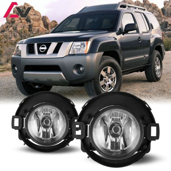 05-15 For Nissan Xterra Clear Lens Pair OE Fog Light Lamp+Wiring+Switch Kit DOT