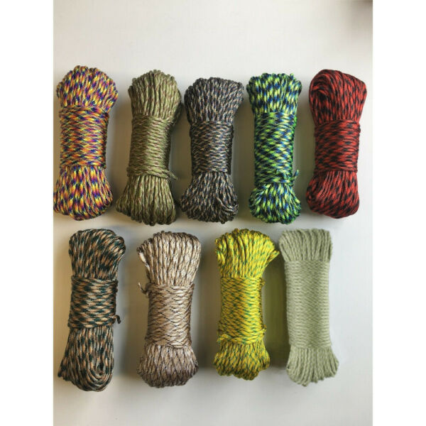 550 Paracord 100ft Parachute Cord 7 Strand Crazy Camouflage Colors Survival Rope