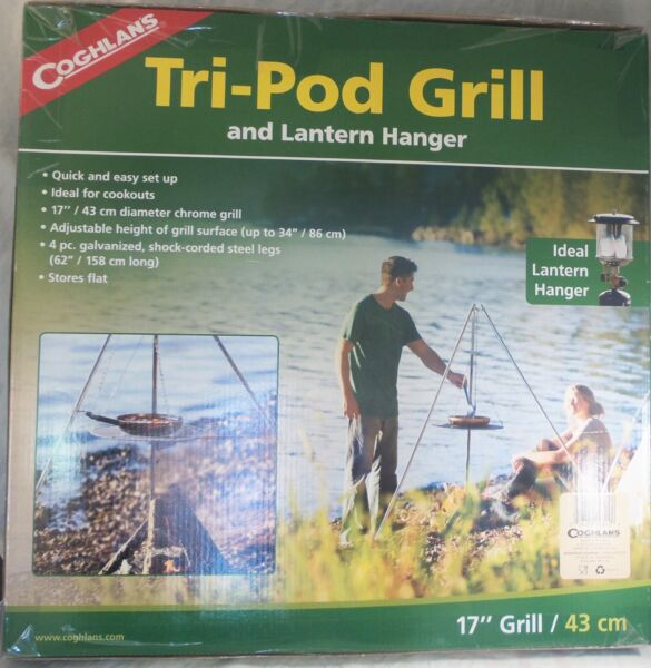 CAMP KITCHEN FIRE COOKING ZOOM TRIPOD GRILL BREAKS DOWN FOR TRANSPORT 9340