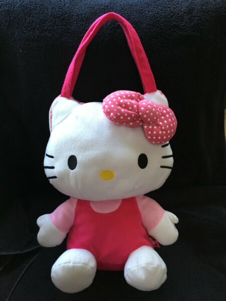 Hello Kitty Sanrio Plush Pink Cat Purse Bag Tote Pack