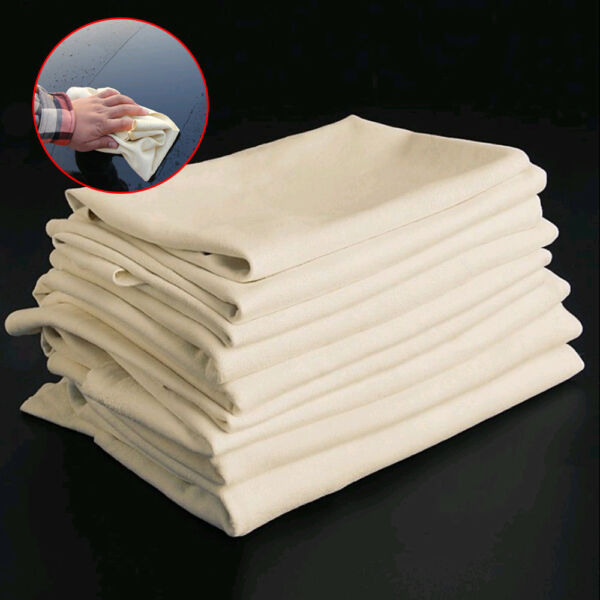 1X Natural Chamois Leather Car Cleaning Cloth Washing Suede Absorbent Towel Tool