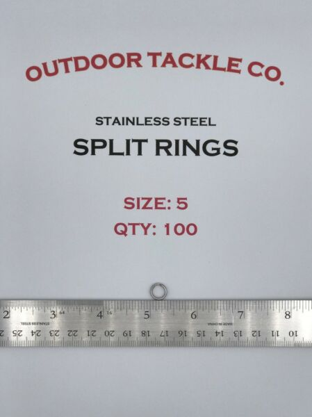SIZE #5 Split Rings 100 Count Pack Stainless Steel USA MADE Fishing Tackle $6.69