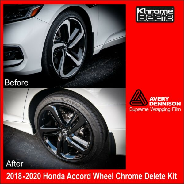 Chrome Delete Kit fitting the 2018 2020 Honda Accord Sedan Sport Wheel