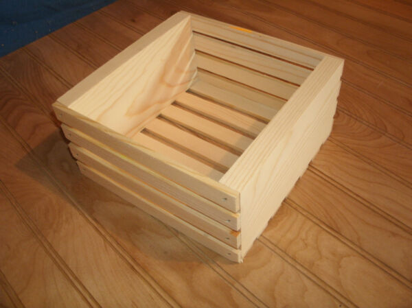 wooden crate wood crate unfinished wood crate storage crate 8quot; X 8quot; X 4quot;