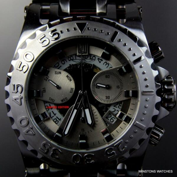 Invicta JT Chaos Combat 52mm Black Steel Jason Taylor Chronograph LE Watch New
