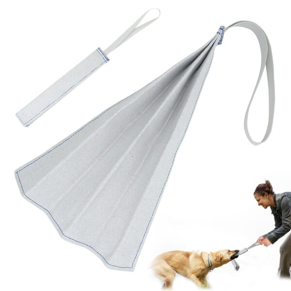 Jute Puppy Dog Bite Rag with Handle Training Tug for Young POLICE K9 SCHUTZHUND