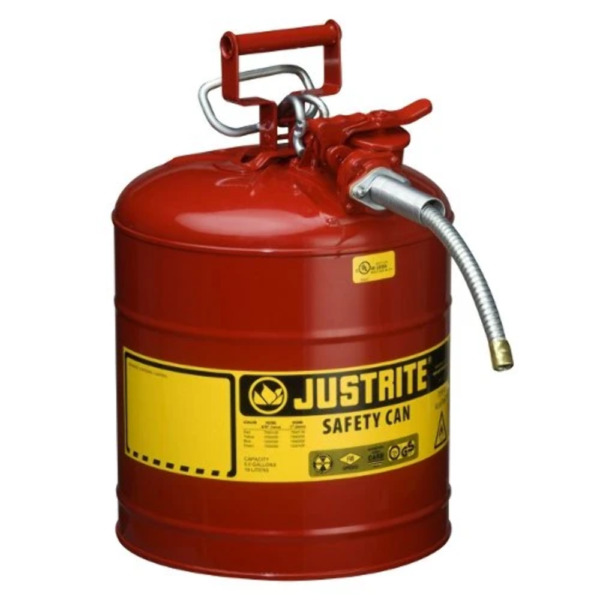 Justrite 7250120 5 Gallon Type II Safety Can with 5 8quot; Flexible Hose $89.99