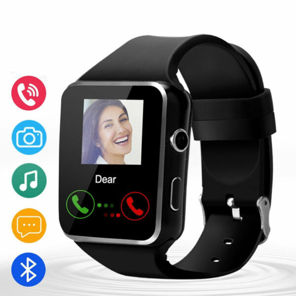 X6 Bluetooth smartwatches For IOS&Android Black Pedometer Curved surface Black
