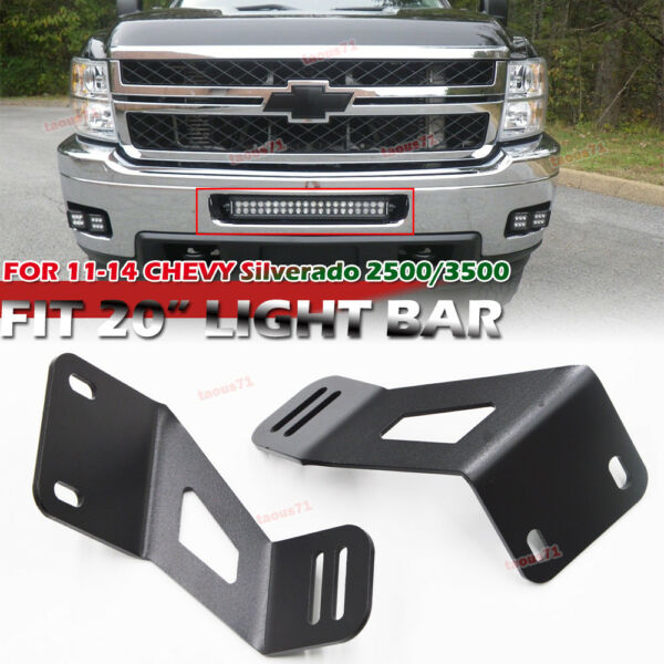 For Chevy Silverado 2500 3500HD Front Bumper 20quot;inch Light bar Mounting Brackets