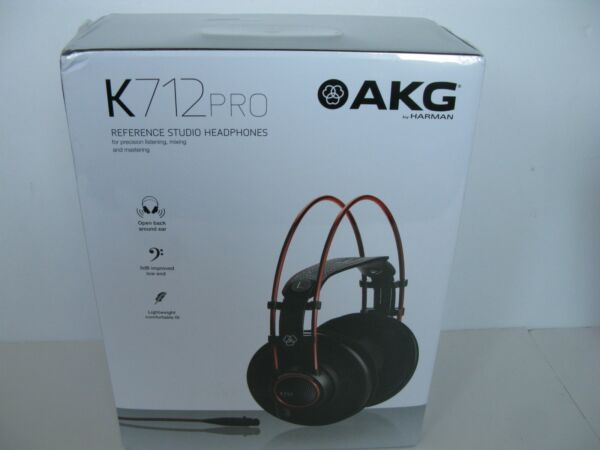AKG K712 Pro Reference Studio Headphones 10-39800 Hz Frequency 62 Ohms Black