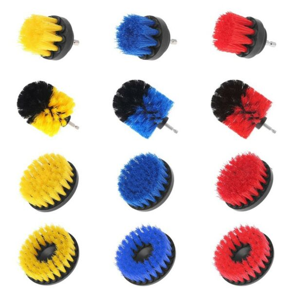 Drill Cleaning Brush Power Scrubber Stiff Scrub Brush Bit Pad Bathroom Tile Tool