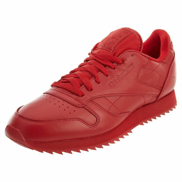 Reebok Classic Leather Ripple Mono Men's Running Training Shoes Red AR2349