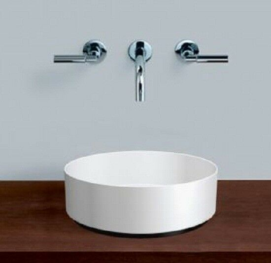 Alape UNISONO COUNTER BASIN Round No Taphole WHITE- 325mm 375mm Or 400mm