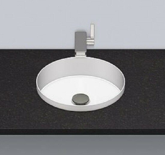 Alape UNISONO SEMI INSET BASIN No Taphole WHITE*German Brand - 325mm Or 375mm
