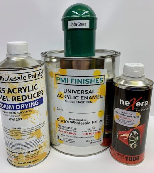 Jade Green Gallon Kit Single Stage ACRYLIC ENAMEL Car Auto Paint Kit