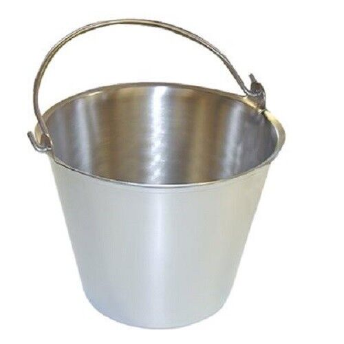 Premium Stainless Steel Pail Vetmilk Bucket Made in Usa Completely Seamless