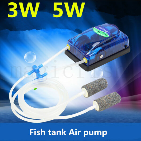 Aquarium adjustable Air Pump Fish Tank Oxygen Pump Ultra Silent Air Compressor $18.00