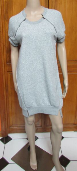weekend for the republic Grey Short Sleeve Sweat Suit Dress Sz L NWT $78.00 $33.50