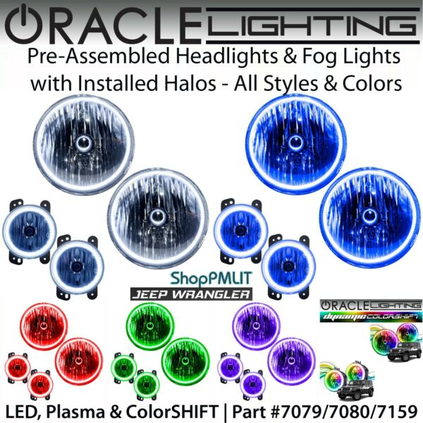 ORACLE Halo Headlights & Fog Lights for 07-18 Jeep Wrangler JK *All Colors