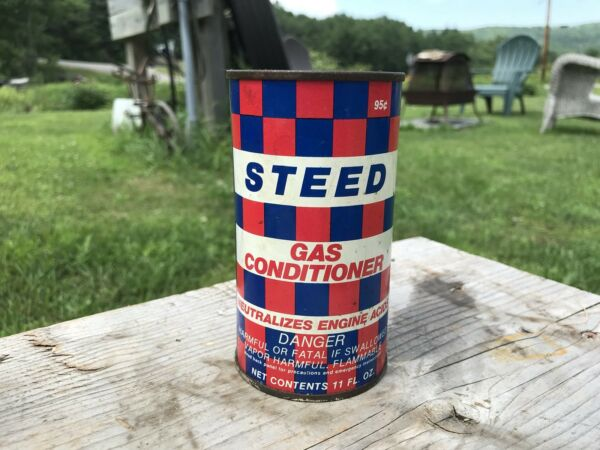 Vtg Steed 11oz Gas Conditioner Metal Can Stamped 99 Cents $9.99