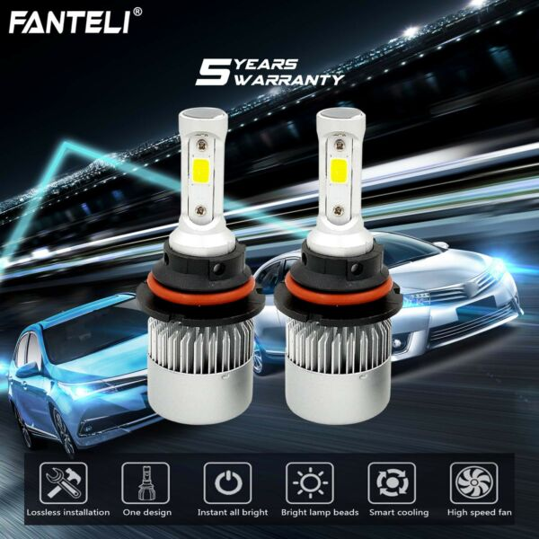 9007 HB5 CREE LED 1500W 225000LM Headlight Conversion Kit White 6000K HI/LO BEAM