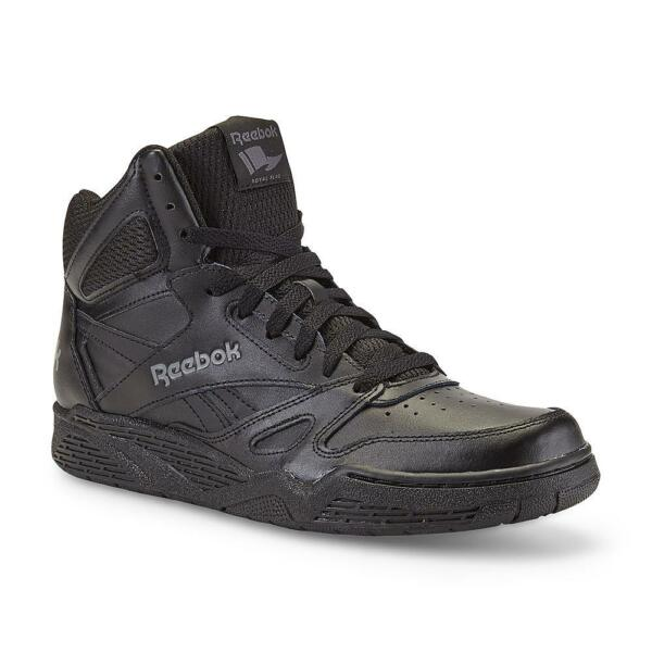 New Mens Reebok Royal BB4500 Wide Black High-Top Leather Basketball Shoe