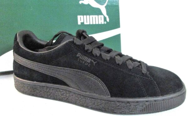 PUMA Suede Classic Leather Formstrip Sneaker Black Black 7.5 D US 1126 []