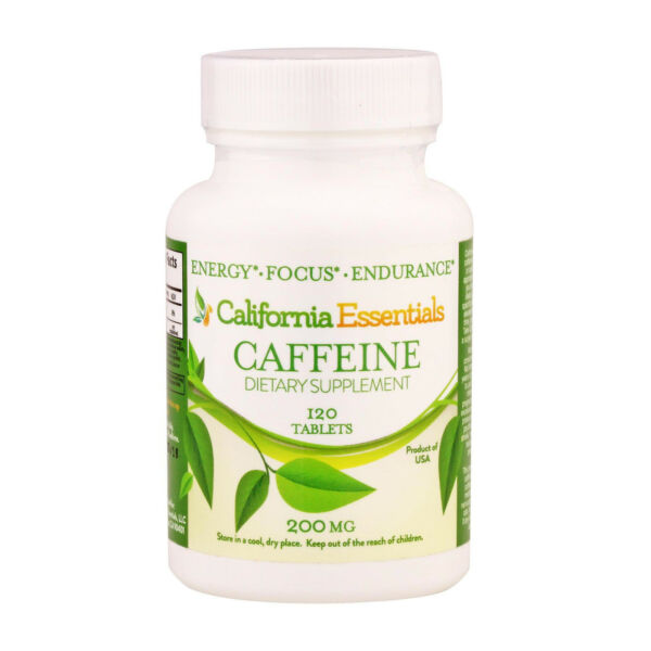 California Essentials Caffeine Pills 200mg 120 Tablets Free Shipping $7.45