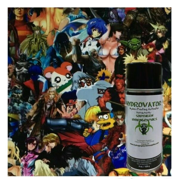 HYDROGRAPHIC WATER TRANSFER HYDRO DIP 6OZ ACTIVATOR & 1M CARTOON CHARACTER FILM