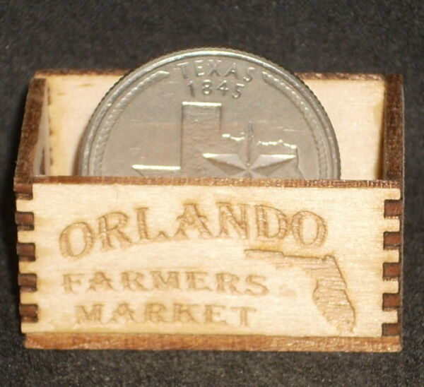 Dollhouse Miniature Orlando Produce Crate 1:12 Florida Farm Market Grocery