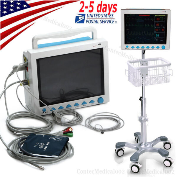 ICU Patient Monitor Multi Parameters Vital Signs Optional CO2PrinterStandBag