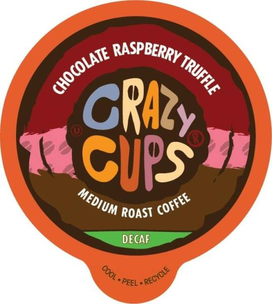 Crazy Cups Coffee for Keurig K Cups 2.0 Decaf Chocolate Raspberry Truffle 22 Ct