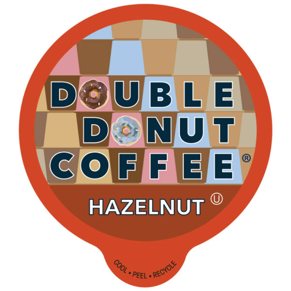Double Donut Hazelnut Flavored Coffee for Keurig K Cup 80 Count