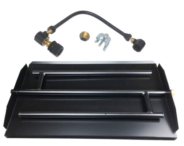 High Desert Hearth Powder Coated Direct Flame Triple Burner Kit for NG or LP