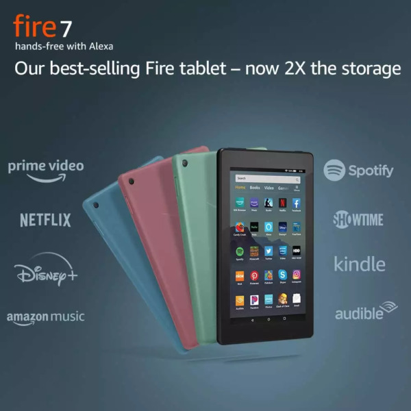 NEW Amazon Fire 7 Tablet 16 GB 9th Gen Black Blue Plum Sage ALL COLORS