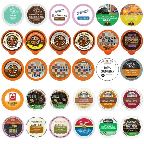Coffee Tea Cider Cappuccino and Hot Chocolate Sampler For Keurig K Cup 30ct
