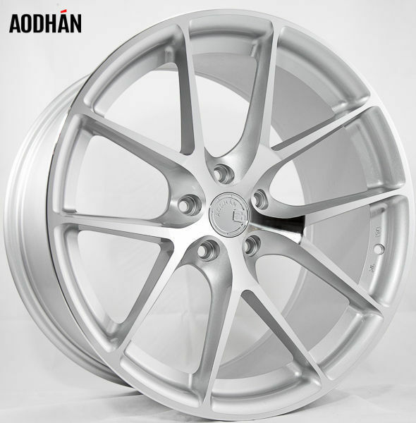 19X8.5 AodHan LS007 5X114.3 ET15 Silver Machined Face Wheels (Set of 4)