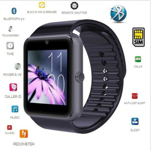 Men Women Bluetooth Smart Wrist Watch Sport Office PhoneMate Use For Android