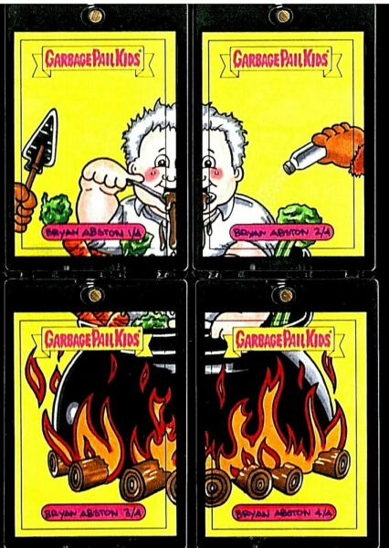 ANTHONY BOURDAIN 11 PUZZLE🔥FULL COLOR SKETCH CARD TOPPS 2017 GARBAGE PAIL KIDS